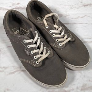 Vans sneakers.  Size 7. Gray/white